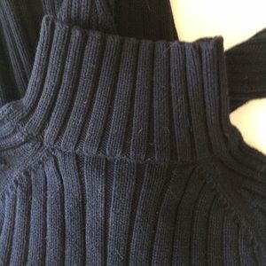 Abercrombie & Fitch Sweaters - Abercrombie Dark Blue Mock Turtleneck Sweater Sz L